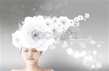 Link toCreative white rose beauty psd