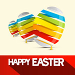 Link toCreative with color eggs vector