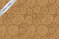 Link toCreative wood rings seamless vector background