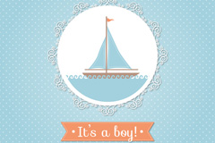 Link toCreative yacht-friendly party card vector