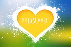 Link toCreative yellow love hello summer vector