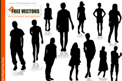 Link toCreative young people silhouettes vector