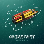 Link toCreativity school design vector background 01 free