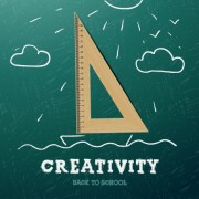 Link toCreativity school design vector background 02 free