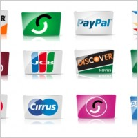 Link toCredit cards and payment icon set icons pack