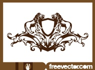 Link toCrest with lions vector free