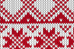 Link toCrimson knit pattern background vector