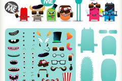 Link toCross-dressing freak cartoon element vector