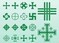 Link toCrosses and symbols vector free