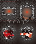Link toCrown pattern light background vector