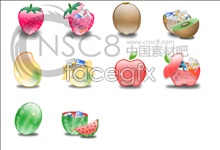 Link toCrystal cartoon fruit icons
