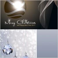 Link toCrystal christmas ball and lob vector