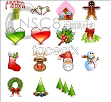 Crystal christmas ornaments icons