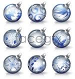 Crystal christmas ornaments vector