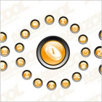 Link toCrystal circular icon vector material