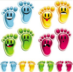 Link toCrystal footprints vector