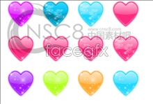 Link toCrystal heart shaped icons