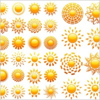 Link toCrystal icon vector of the sun