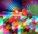 Link toCrystal mosaic background vector