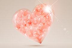 Link toCrystal pink hearts vector