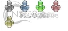 Crystal robot icons