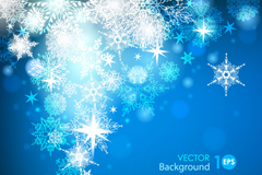 Link toCrystal snowflake background vector