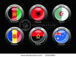 Crystal style foreign flags