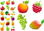 Link toCrystal texture of fruit vector