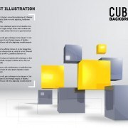 Link toCubes abstract background art vector 03