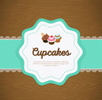 Link toCupcake tag vector