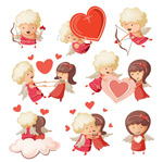 Link toCupid cartoon vector