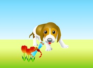 Link toCurious puppy vector free