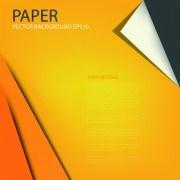 Link toCurled corner paper vector background set 03