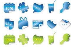 Link toCurling effect sticker vector