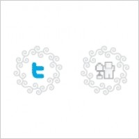 Link toCurly vector social icons