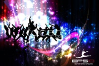 Link toCurrent background dancing silhouettes vector