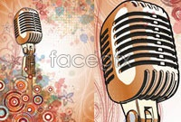 Link toCurrent background microphone pattern vector