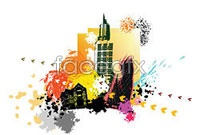 Link toCurrent city silhouette vector