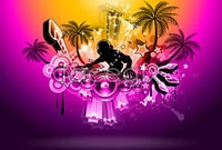 Link toCurrent dynamic music posters vector