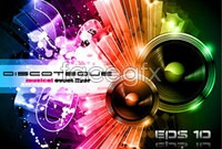 Link toCurrent dynamic music theme elements vector background