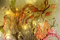 Link toCurrent fancy flowers vector illustration figure iv