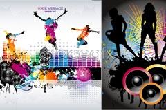 Link toCurrent female music theme vector