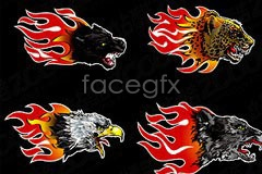 Link tovector head animal flame Current