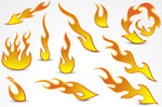 Link toCurrent flame pattern vector