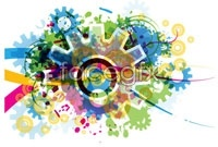 Link toCurrent gear four vector background