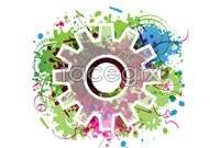 Link toCurrent gear vector background for three