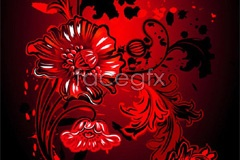 Link tovector background flower red Current