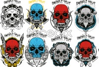 Link toCurrent skull pattern silhouette vector