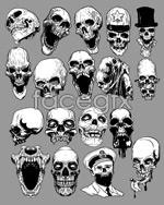 Link toCurrent skull vector