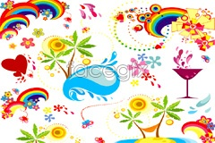 Link toCurrent summer theme element vector
